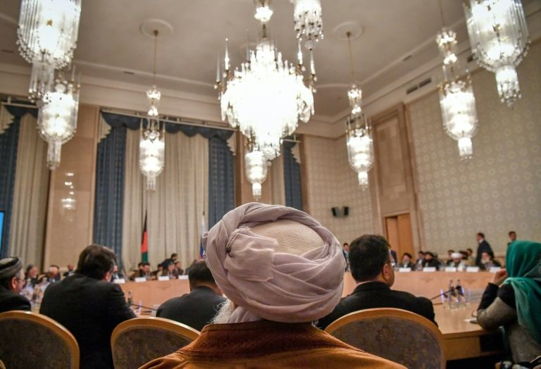 Taliban officials in Moscow spelled out their vision for Afghanistan in front of a host of political heavyweights, including former president Hamid Karzai. PHOTO: REUTERS