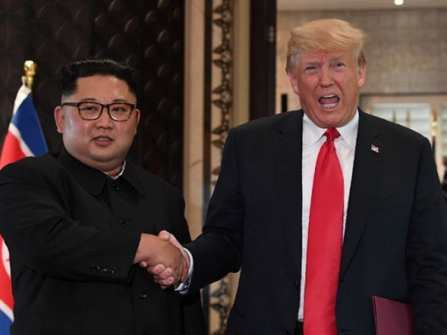 Last year's landmark summit in Singapore produced a vaguely-worded document in which Kim pledged to work towards 'the denuclearisation of the Korean peninsula'. PHOTO: AFP