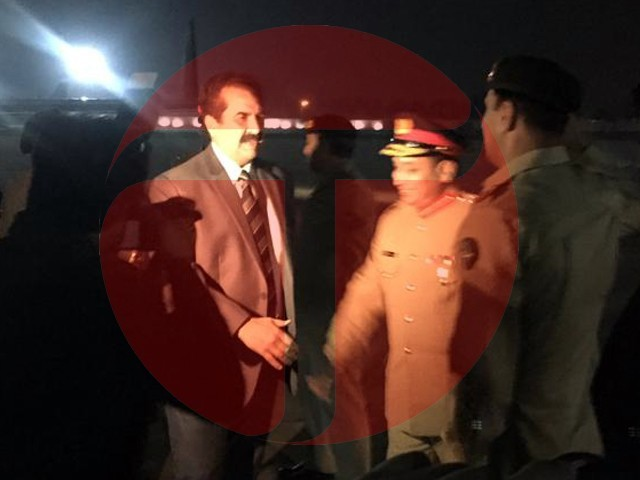 Former COAS Gen (retd) Raheel Sharif arrives in Islamabad on Sunday night. PHOTO: EXPRESS