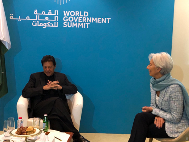 A view of meeting in Dubai. PHOTO: TWITTER/@Christine Lagarde
