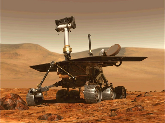 Opportunity, NASA's six-wheeled Mars rover. PHOTO: AFP