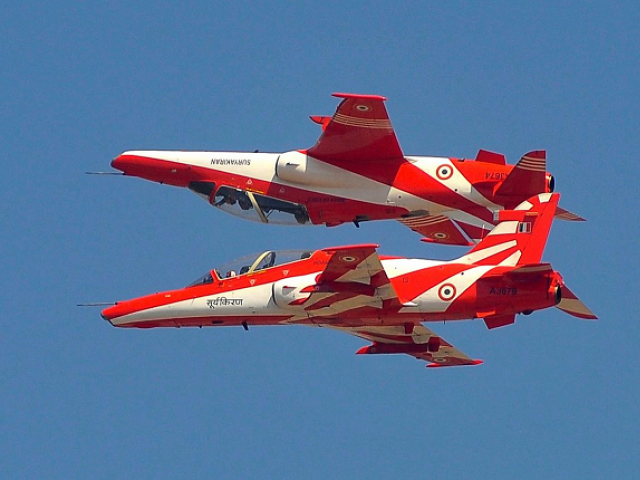 Dramatic MOMENT Indian Air Force jets collide mid-air caught on video