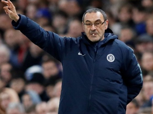Sarri's future in London has come into question after his side dropped to sixth in the Premier League, with fans turning on the Italian during recent defeats to Manchester City and Manchester United. PHOTO: REUTERS