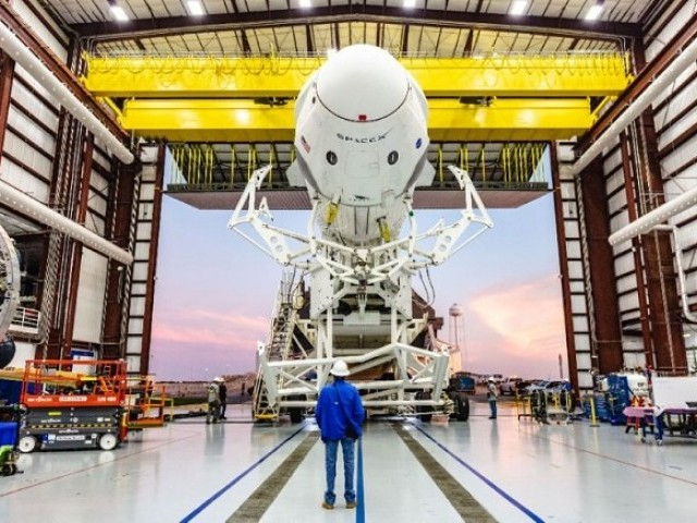 A Falcon 9 rocket from the private US-based SpaceX is scheduled to lift off, weather permitting, on March 2 to take the Crew Dragon test capsule to the ISS. PHOTO: AFP
