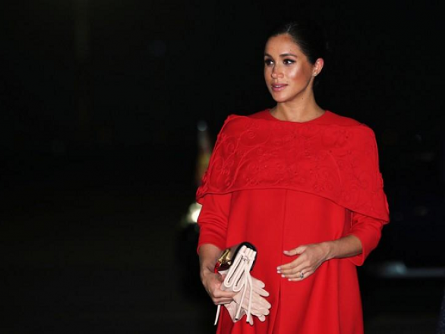 Britain's Meghan Markle, Duchess of Sussex, arrives at the Casablanca Airport in Casablanca, Morocco, February 23, 2019. PHOTO: REUTERS