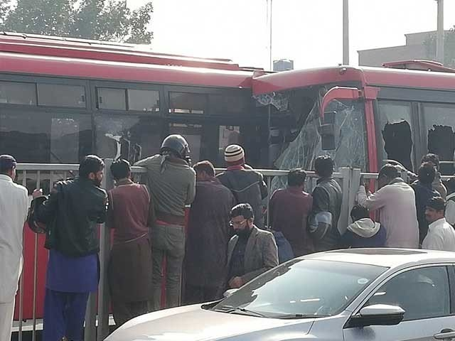 Metro bus service has been suspended temporarily after the crash. PHOTO: FILE