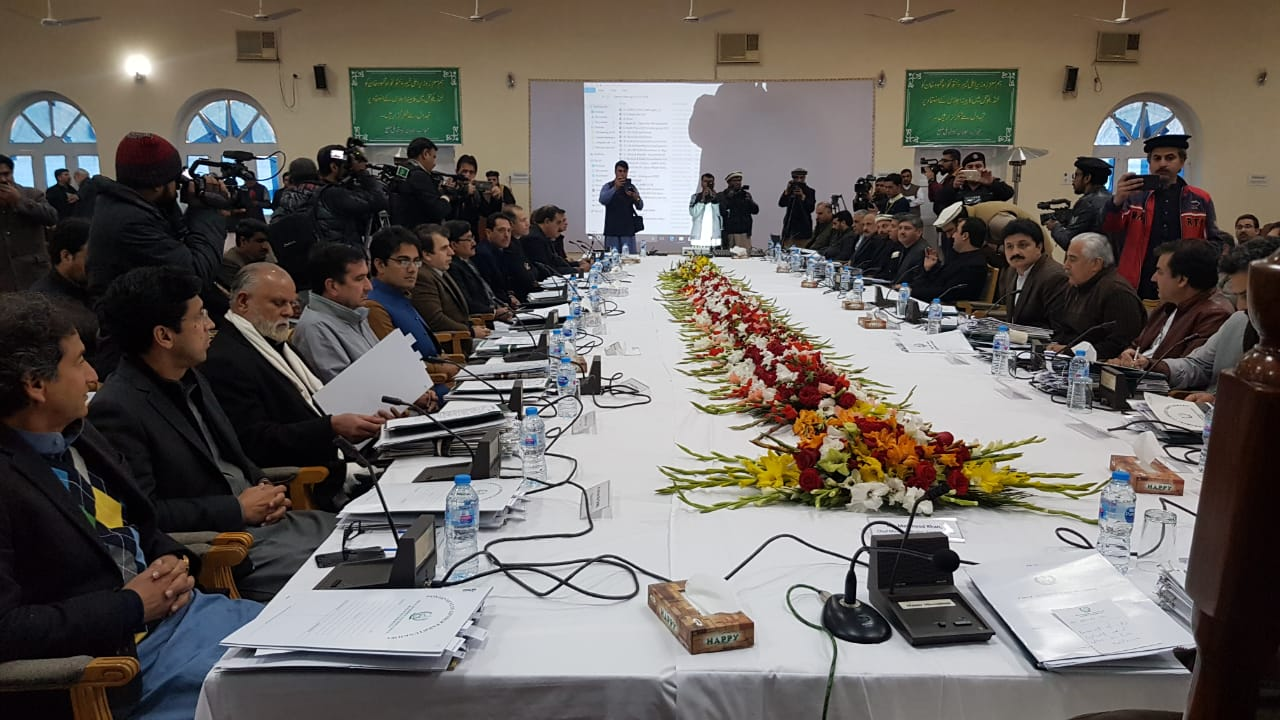 K-P cabinet meeting at Landi Kotal. PHOTO: EXPRESS
