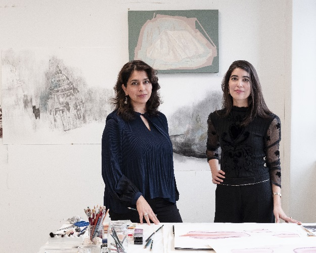 Artist Naiza Khan and curator Zahra Khan. PHOTO COURTESY: Carlotta Cardana