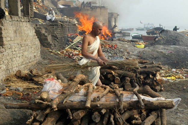Hindus believe that dying in Varanasi in India releases them from the eternal cycle of life and death reincarnation. PHOTO: AFP
