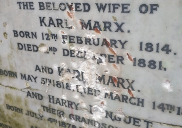 Image result for Karl Marx's grave vandalised in London