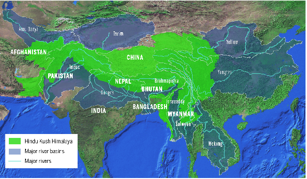 The Hindu Kush Himalayan region and 10 major river basins. PHOTO COURTESY: The Hindu Kush Himalaya Assessment, 2019