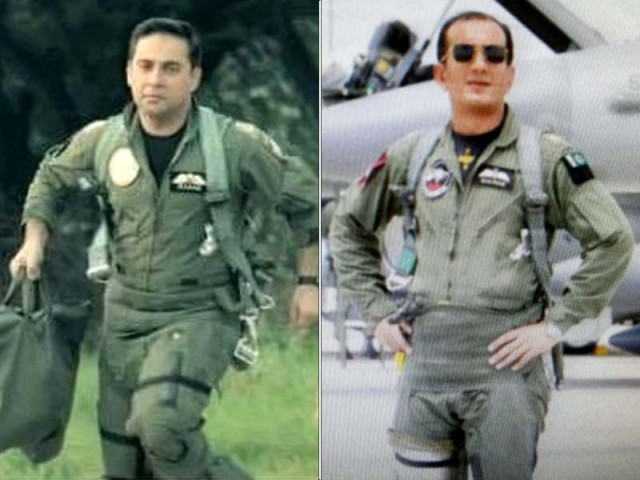 Squadron Leader Hassan Siddiqui (L) and Wing Commander Nauman Ali Khan (R). PHOTOS: SOCIAL MEDIA