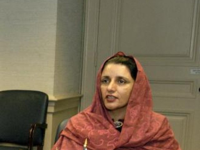 Federal Minister for Defence Production Zubaida Jalal. PHOTO: TWITTER