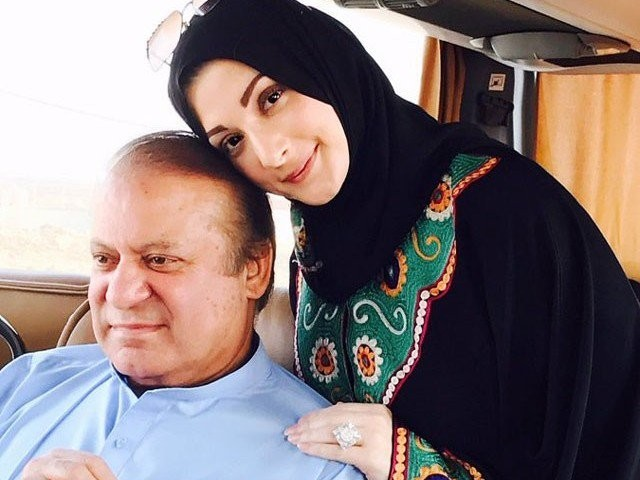 Maryam Nawaz says she has not been allowed to visit her ailing father for the last five days. PHOTO: EXPRESS/FILE