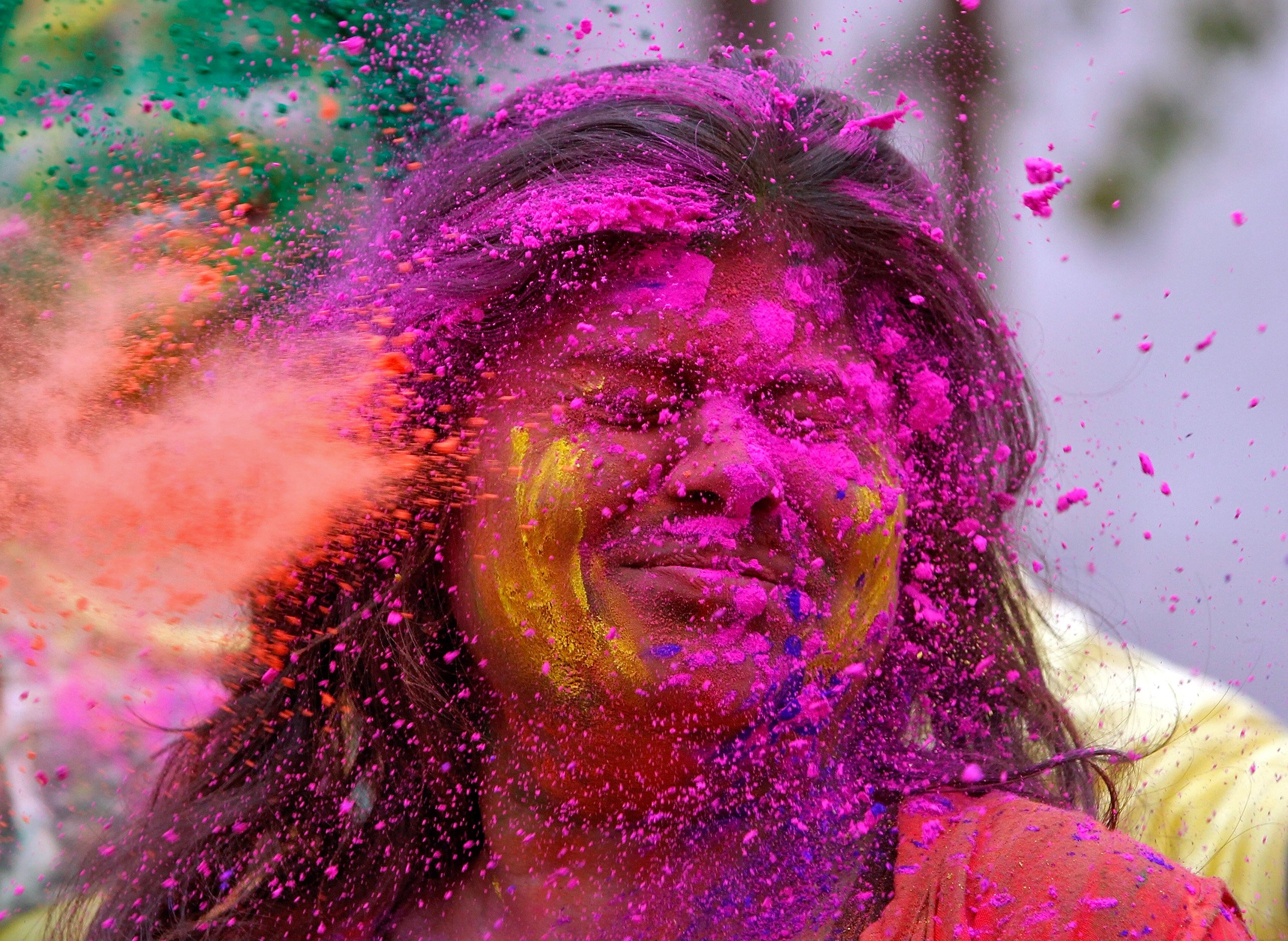 Holi: Hindus across India and Nepal celebrate festival of colours