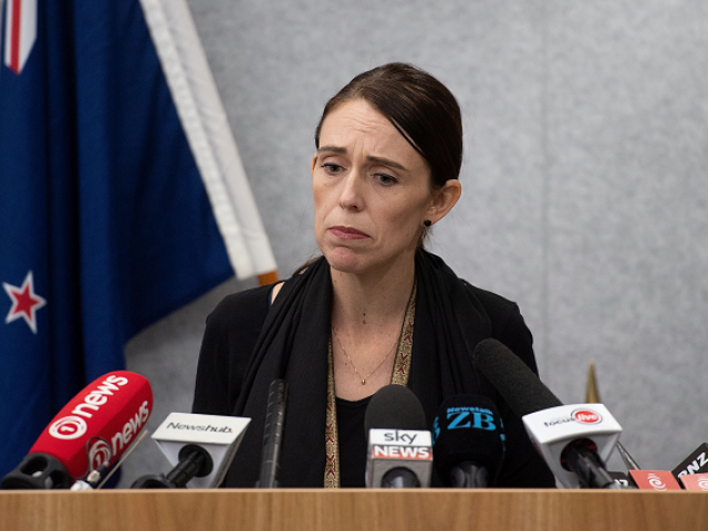 New Zealand Prime Minister Jacinda Ardern speaks to the media during a press conference at the Justice Precinct in Christchurch
