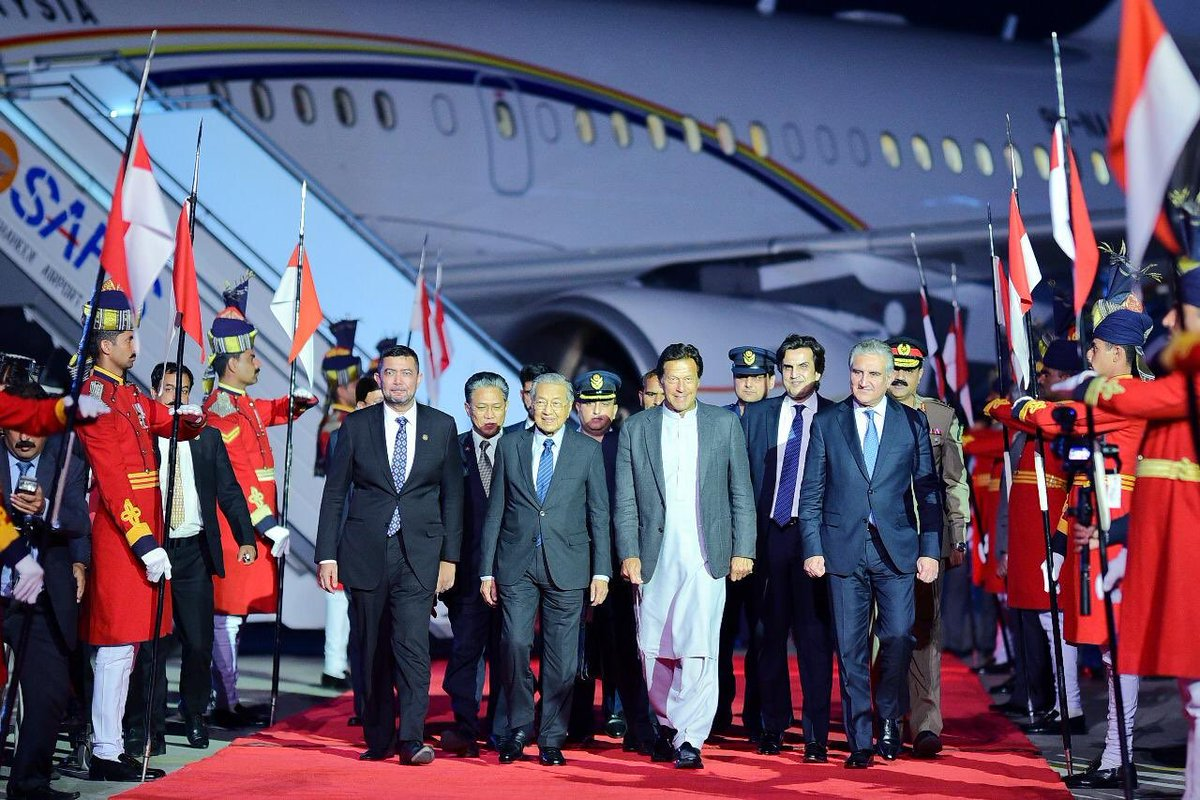 Malaysian PM Dr Mahatir bin Mohamad arrives in Islamabad. PHOTO: PTI