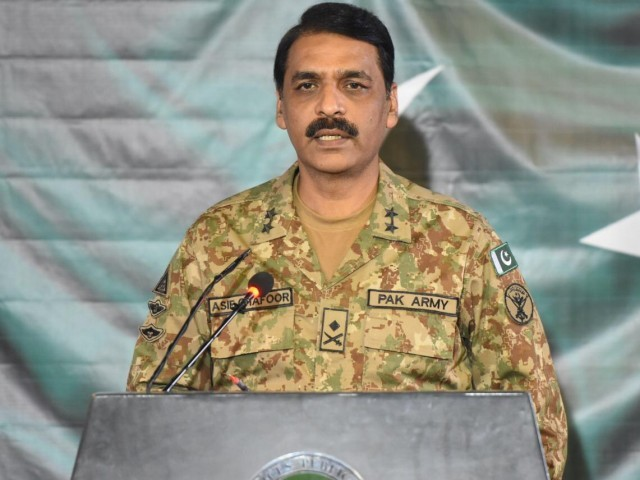 DG ISPR Major General Asif Ghafoor. PHOTO: ISPR