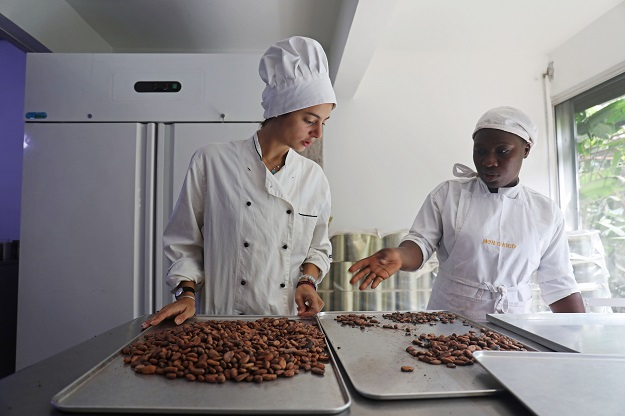 Dana Mroueh, owner of the handmade organic raw chocolate factory