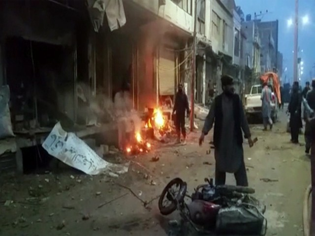 Initial reports suggested that a powerful explosion took place at Palestine Chowk of the Balochistan town. SCREENGRAB