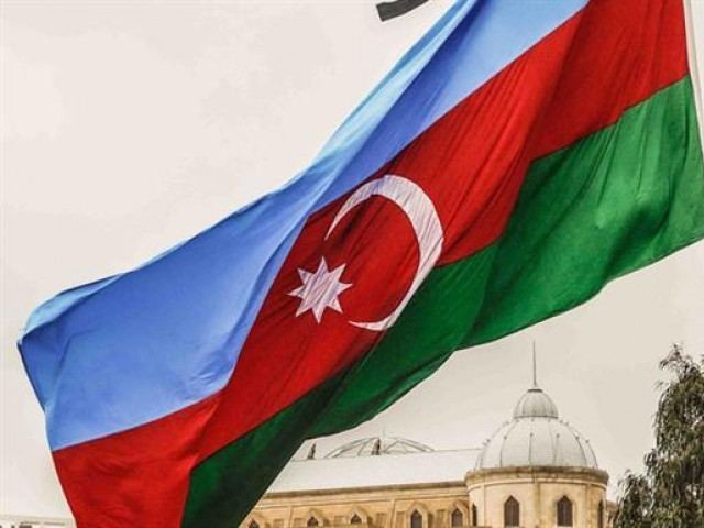 Flag of Azerbaijan. PHOTO: AFP