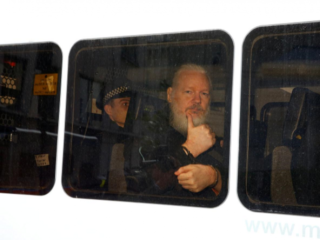 Supporters of Assange said Ecuador had betrayed him at the behest of Washington. PHOTO: REUTERS