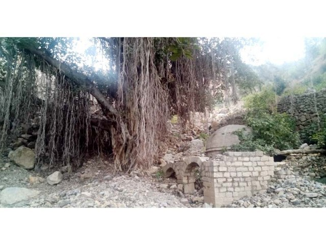 View of an at least 1,000-year-old Hindu temple unearthed in Haripur. PHOTO: EXPRESS