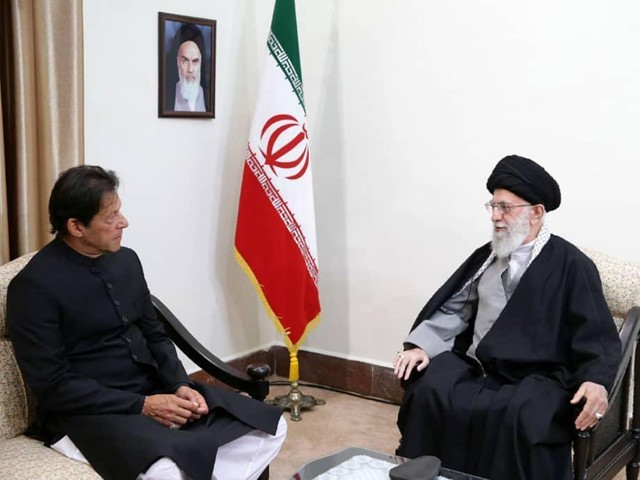 Prime Minister Imran Khan meets Supreme Leader of Iran Seyyed Ali Khamenei in Tehran. PHOTO: EXPRESS