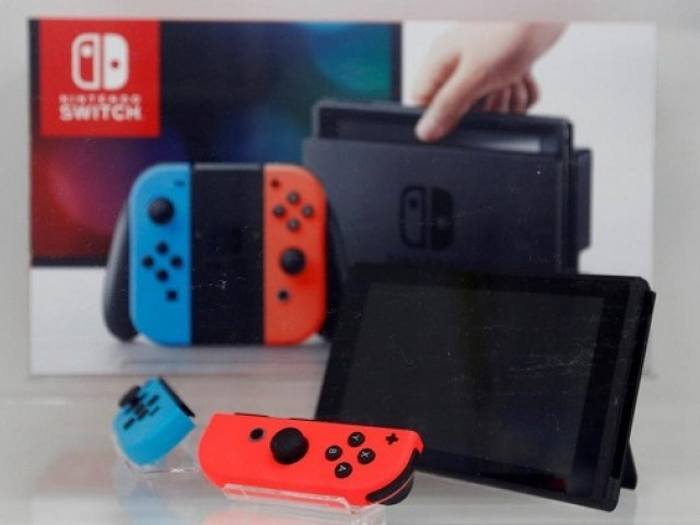 A Nintendo Switch game console is displayed at an electronics store in Tokyo, Japan March 3, 2017. PHOTO: REUTERS