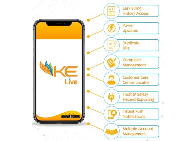 With the rise in the use of smartphones in Pakistan, K-Electric has launched the Live app for its consumers to have better customer service. PHOTO: KELECTRIC LIVE