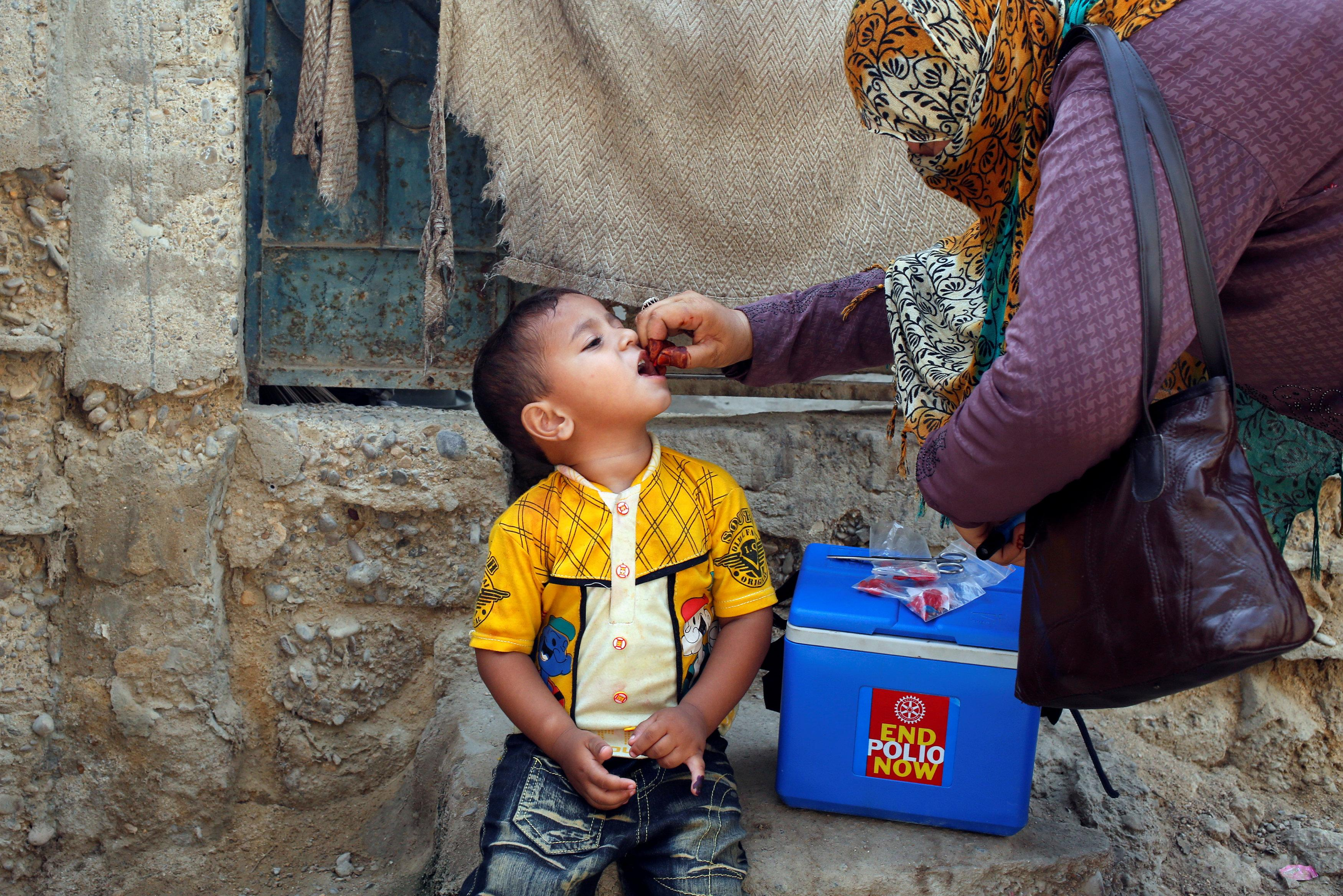 PM's adviser on polio eradication says campaign was a five-day affair and completed on schedule. PHOTO: REUTERS