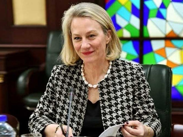 Alice Wells says US has no information regarding military's claims about PTM being funded by Afghan, Indian agencies. PHOTO: FILE
