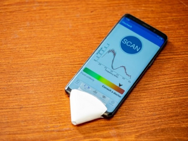 AI smartphone app detect ear infections through paper