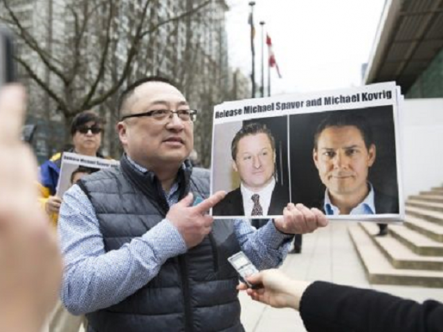 China's detention of Michael Kovrig and Michael Spavor on suspicions of espionage has inflamed tensions between Ottawa and Beijing. PHOTO: AFP