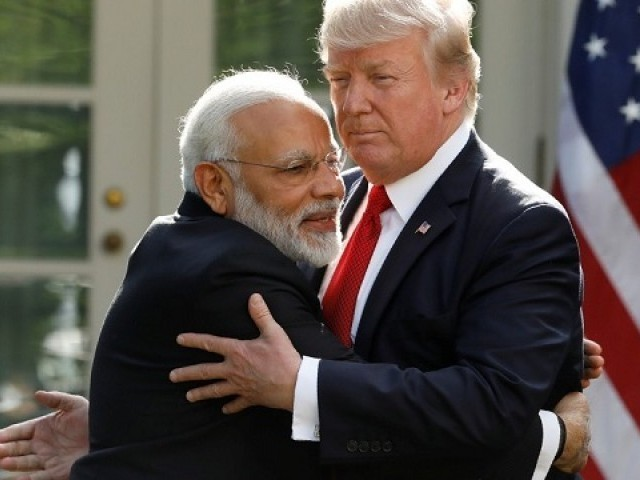 Indian PM Narendra Modi and US President Donald Trump. PHOTO: REUTERS
