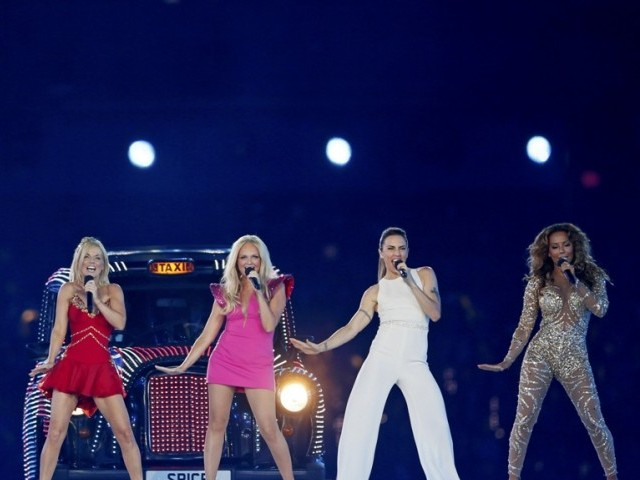 The Spice Girls perform during the closing ceremony of the London 2012 Olympic Games at the Olympic Stadium, August 12. PHOTO: REUTERS/FILE.