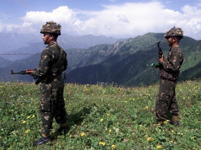 Indian Army soldiers patrol close to the Line of Control (LOC). PHOTO: REUTERS/File