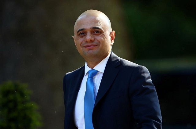 UK PM candidate Sajid Javid. PHOTO: REUTERS