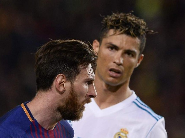 Ronaldo and Messi. PHOTO: AFP