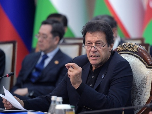 Prime Minister Imran Khan attends a session during the Shanghai Cooperation Organisation (SCO) summit in Bishkek. PHOTO: REUTERS