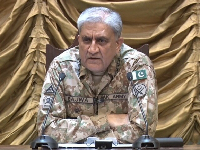 Gen Qamar says full spectrum of threat demands comprehensive national response. SCREENGRAB