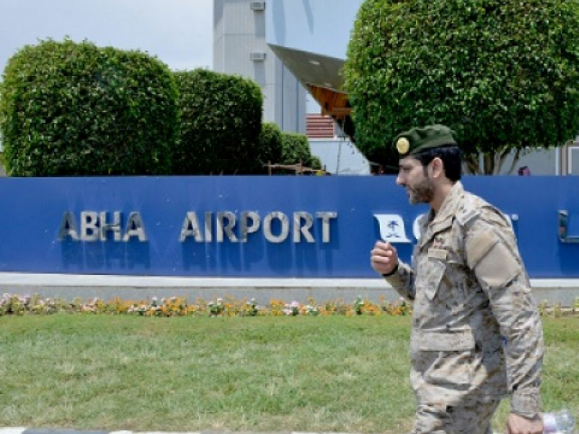 The drone attack on Saudi Arabia's Abha airport was the second assault in two days. PHOTO: AFP