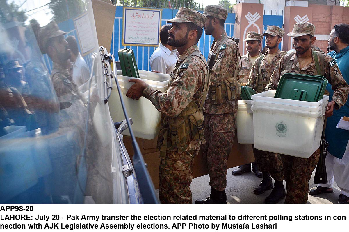 Military will be present inside tribal districts' 'sensitive' polling stations only. PHOTO: FILE