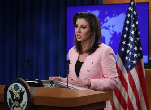Morgan Ortagus. PHOTO: AFP
