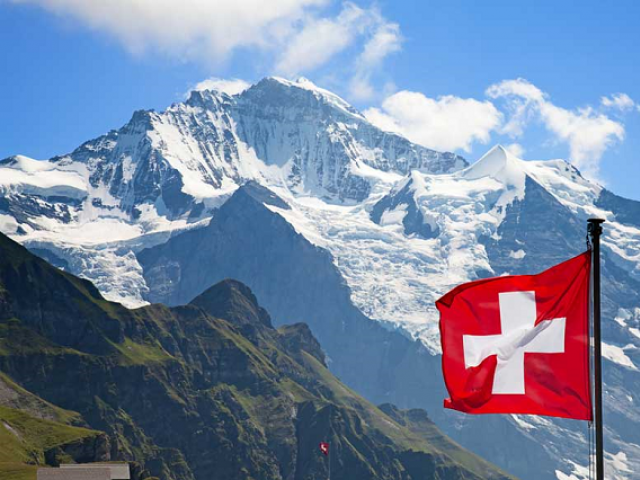 Swiss flag. PHOTO: AFP