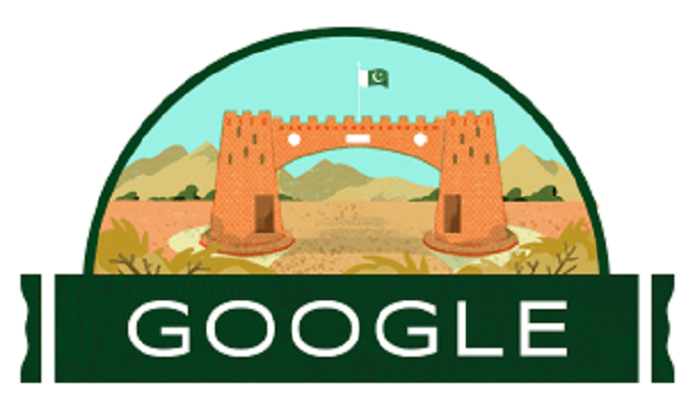 Google Doodle for Pakistan's 73rd Independence Day  Photo: Google