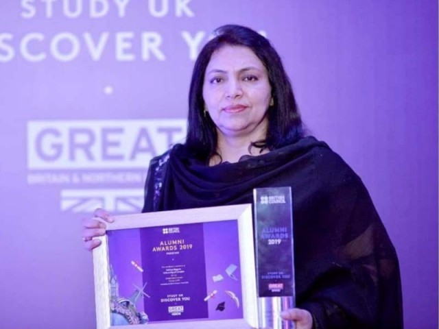 I'm happy to be chosen for yet another award, says Salima Begum. PHOTO: EXPRESS