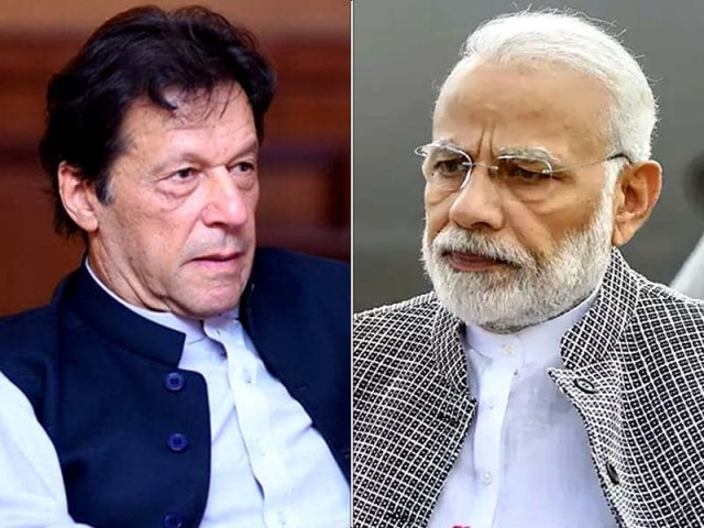 Pakistan PM Imran Khan and India PM Narendra Modi. PHOTO: EXPRESS