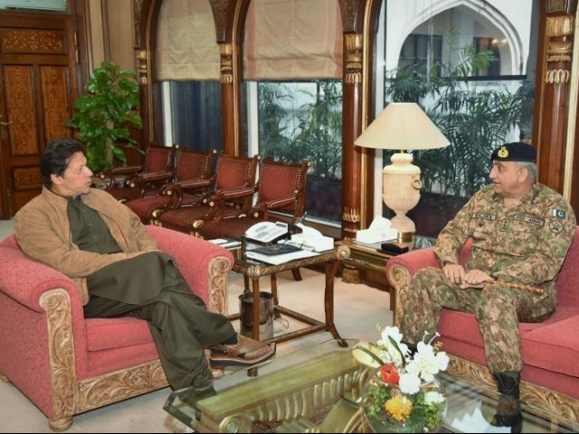 PM Imran Khan with COAS General Bajwa. PHOTO: PM HOUSE