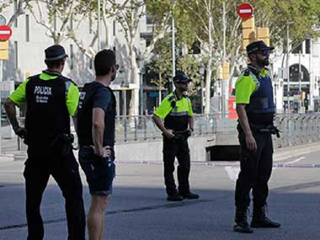 Barcelona police. PHOTO: AFP